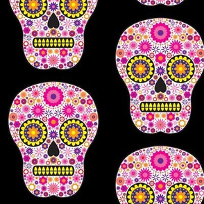 Pink Mexican Sugar Skull Pattern