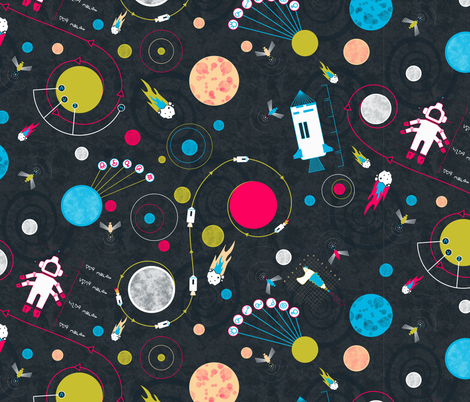 Space Plans fabric by candyjoyce on Spoonflower - custom fabric