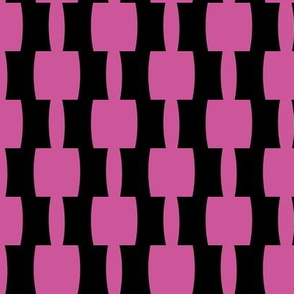 Bohemian Abstract |Mid-Century Retro Blocks | Black and Pink