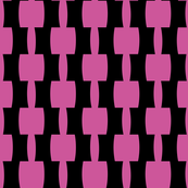 Retro Black and Pink Curvy Blocks
