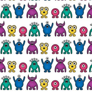 Alien Monster Rainbow Pattern