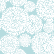 Delightful Doilies Wallpaper Color #B7DCE0