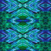 Rock Art 16-Deep Green and Blue-Small