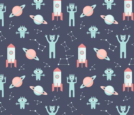 Cosmic pattern fabric by lenivec on Spoonflower - custom fabric