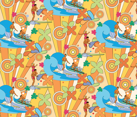 Groovy Surfers fabric by vinpauld on Spoonflower - custom fabric