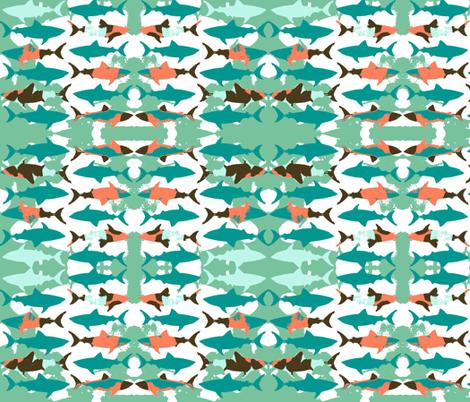Shadow Shark! fabric by bananana on Spoonflower - custom fabric