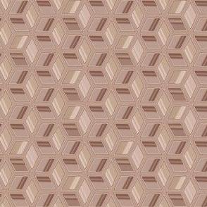 Beige Op Art Cubes