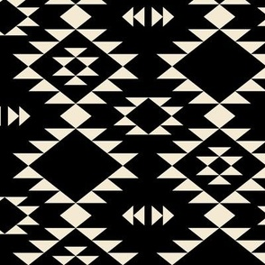 Navajo Black off White