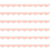 Scalloped bunting peach on white