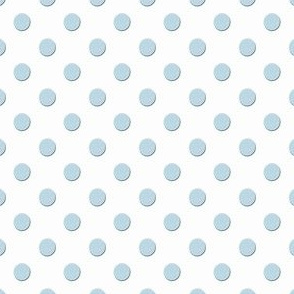 Sky Blue TEXTURED Dots on a Ground of White