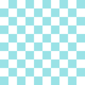 Starlight Check - Pale Blue and White