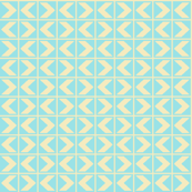 Starlight Chevrons - Cream on Pale Blue (# 1)