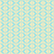 Starlight Chevrons - Pale Blue on Cream (# 2)