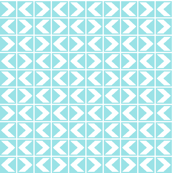 Starlight Chevrons - White on Pale Blue (# 5)