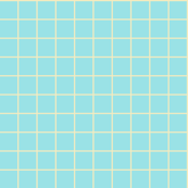Starlight Grid - Cream on Pale Blue