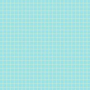 Starlight Grid - Cream on Pale Blue