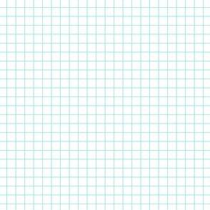Starlight Geometric Grid - Pale Blue on White