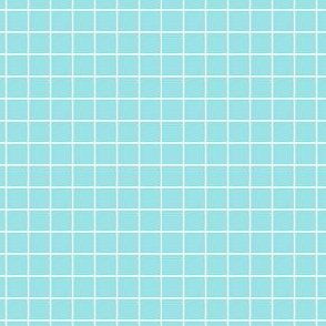 Starlight Geometric Grid - White on Pale Blue