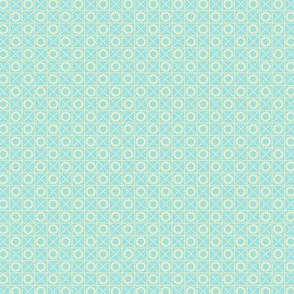 Hugs and Kisses (# 4) - (Pale Blue & Cream Crosses and Pale Blue & Cream Noughts)