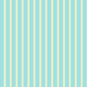Starlight Stripes - Cream on Pale Blue