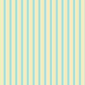 Starlight Stripes - Pale Blue on Cream