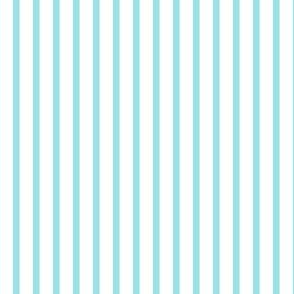 Starlight Stripes - Pale Blue on White