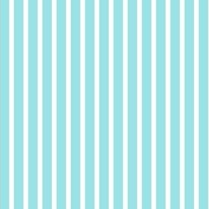 Starlight Stripes - White on Pale Blue