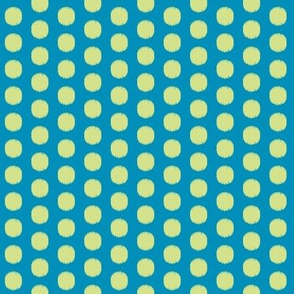 Ikat Spot Blue and Yellow