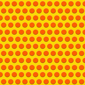 Dots of Orange on Yellow
