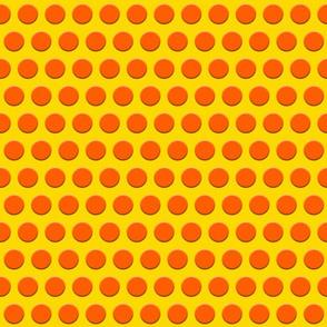 Dots of Orange on Yellow