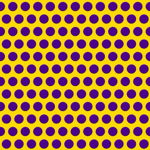 Purple Dots on Bright Yellow