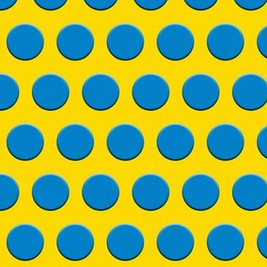 Blue Dots on Yellow