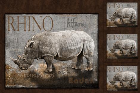 rhino_fabric_banner fabric by kgarvey on Spoonflower - custom fabric