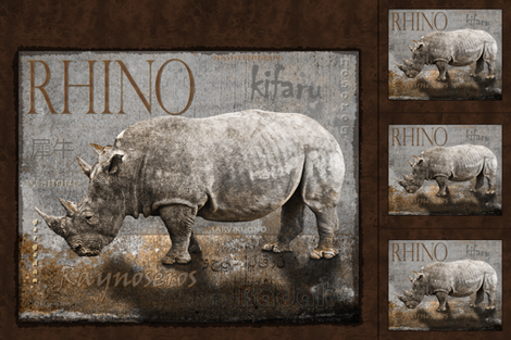rhino_fabric_banner fabric by kgarvey on Spoonflower - custom fabric