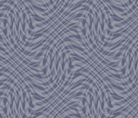 swirling plaid in blue-grey