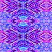 Rock Art 16-Cyan and Purple-Small