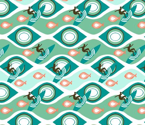 Riding Waves fabric by autonomie on Spoonflower - custom fabric