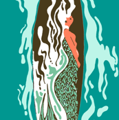 mermaid surfboard