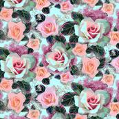 digital cabbage roses 2