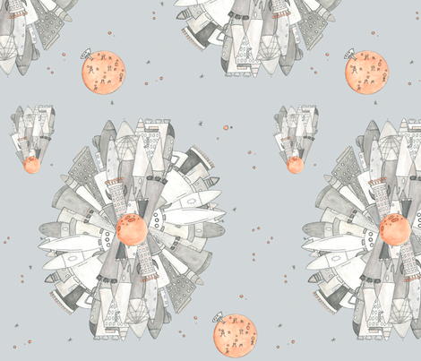 Cosmic voyage- everything for sale! fabric by t-w-i-n-k-l-e on Spoonflower - custom fabric