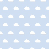 Clouds white on blue