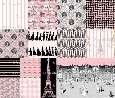 Promenade in Paris ~ Cheater Quilt