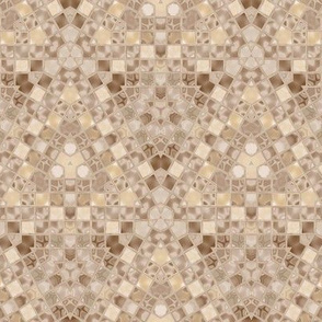 Intricate Beige and Brown Tile