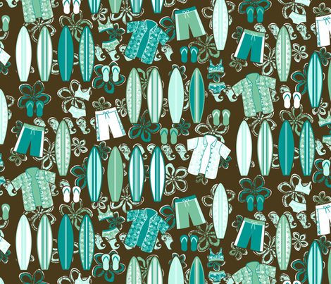 Let's Hang Ten! fabric by robyriker on Spoonflower - custom fabric