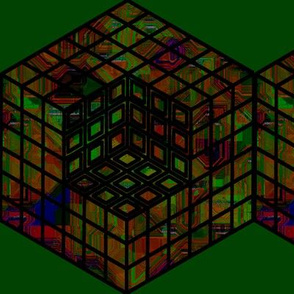 geometric cube - jewel