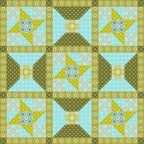 Winding Cotton Verde Quilt