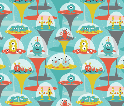Alien Incubators fabric by jillbyers on Spoonflower - custom fabric