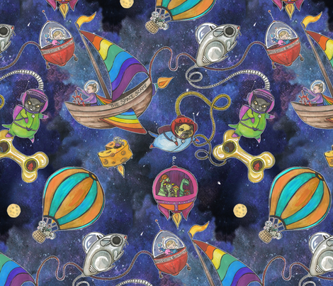 Astro Fracas! fabric by ceanirminger on Spoonflower - custom fabric