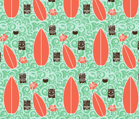 Surf___Tiki fabric by koolary on Spoonflower - custom fabric