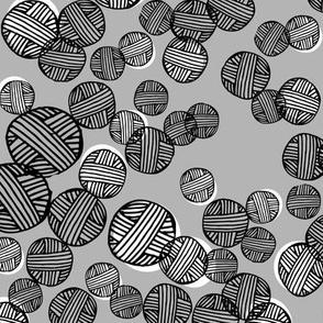Yarn Dots - Slate Gray/White/Black by Andrea Lauren